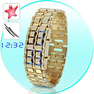 Gold Samurai - Montre LED style Japonais