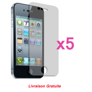 Kit de 5 films antireflet HD Screen Protector pour iPhone 4/4s
