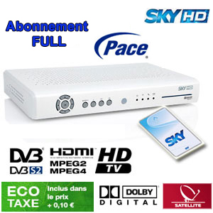 Abonnement Sky Italia HD Complet (Sky TV + Cinema + Calcio + Sport) 12 mois via Hotbird 13° E + Sky box HD