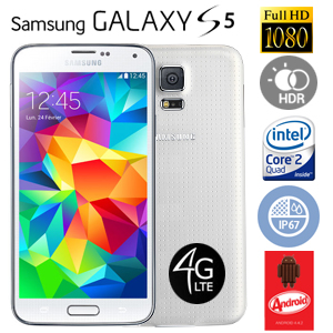 Smartphone Samsung Galaxy S5 couleur blanc 16 Go