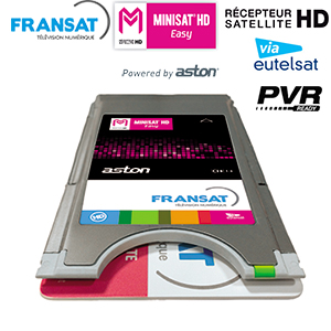 ASTON MINISAT HD EASY - version CI+ 1.3 + Carte viaccess Fransat via Atlantic Bird 3 (5° Ouest)