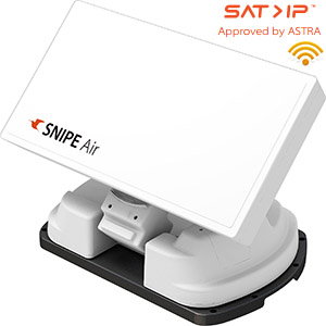 Antenne satellite automatique plate pour Camping - WiFi - SAT IP - LNB single - SELFSAT SNIPE AIR