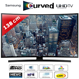TV LED 55'' (138 cm) - Incurvé - UHD/4K - Smart TV - 1200PQI - Samsung UE55JU6640