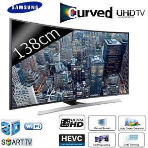 TV LED 55'' (138 cm) - Incurvé - UHD/4K - Smart TV - 3D - 1400 PQI - Samsung UE55JU7500